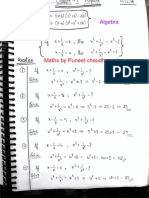Algebra Notes by Puneet Sir