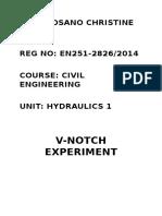 Hydraulics Practicals