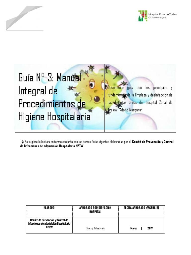 Manual de limpieza y desinfecci n hospitalaria 2017 for Manual de limpieza y desinfeccion en restaurantes