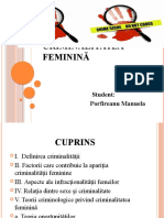 Criminalitatea feminină