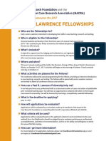 Paul R. Lawrence Fellowship 2017 Announcement