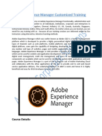 Adobe Experience Manager Customized Training