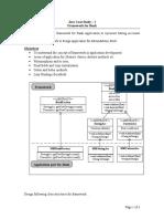 Java Case Study Framework - I