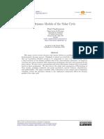 1 Dynamo Models of the Solar Cycle (Charbonneau 2010)