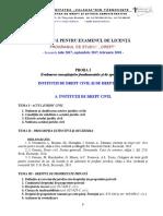 Tematica Licenta DREPT 2016-2017 universitatea valahia targoviste