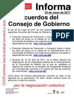 Publicación BOCM Acuerdos 22052017