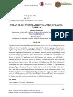 Urban Flood Vulnerability Mapping of Lagos, Nigeria