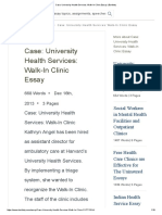 Case_ University Health Services_ Walk-In Clinic Essay _ Bartleby