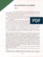 Dizimo, Origem e Proposito - Demóstenes Neves