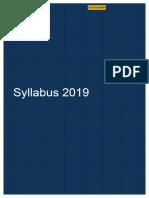 IFoA Syllabus 2019-2017