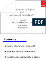Japan Revitalization and Investment Opportunity May,2015