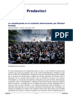 La Constituyente en El Contexto Internacional Por Michael Penfold