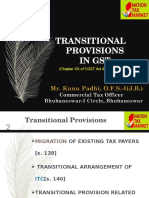 Transitional Provisions under GST Act