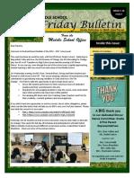 MS Parent Bulletin (Week of June 5 to 9)