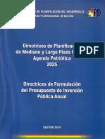 Agenda Patriotica Bolivia