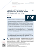 Maternal and Fetal Outcomes of Anticoagulation in Pregnant Women With Mechanical Heart Valves