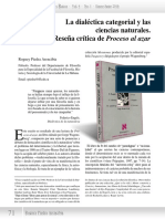 La Dialéctica Categorial y Las Ciencias Naturales