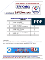 IBPS Guide- Monthly Current Affairs Capsule August - 2016 Www.ibpsguide.com (1)