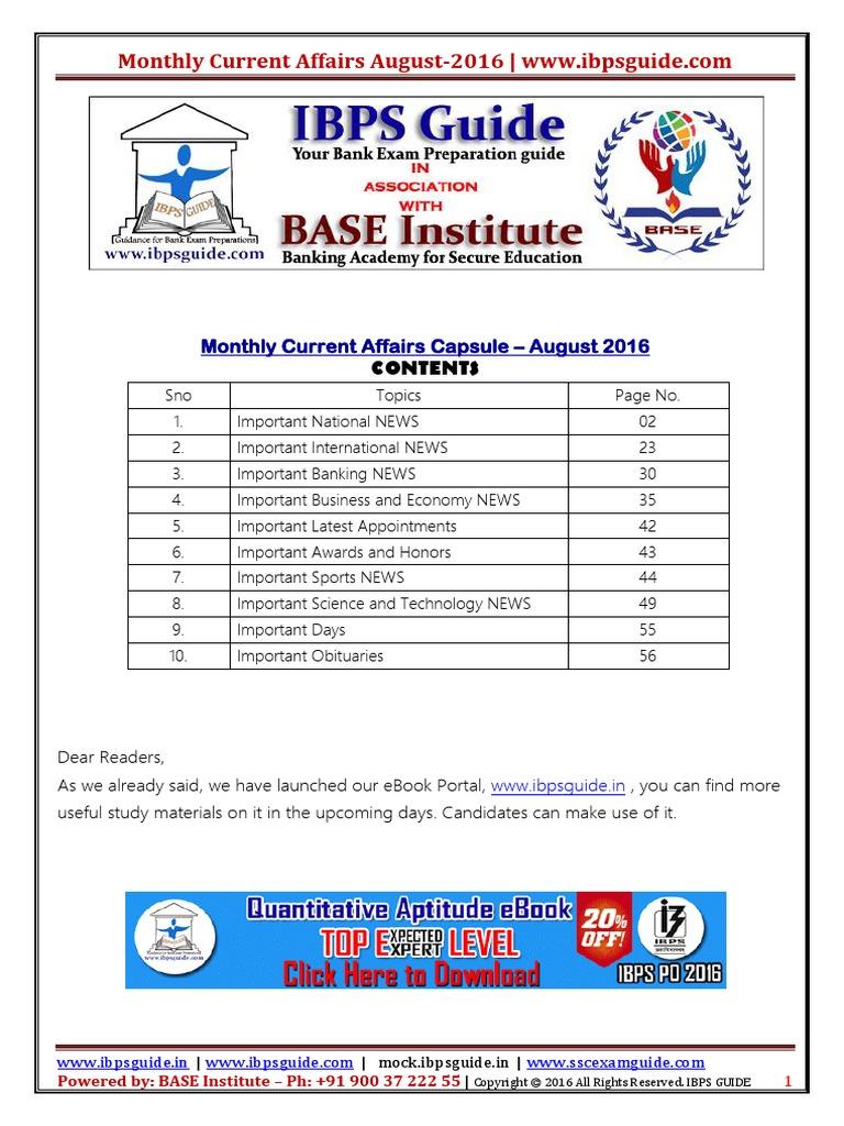 Ibps guide monthly current affairs capsule august 2016 www ibps guide monthly current affairs capsule august 2016 ibpsguide 1 deep brain stimulation value added tax fandeluxe Choice Image