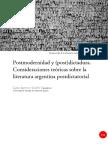«Postmodernidad y (post)dictadura. Consideraciones teóricas sobre la literatura argentina postdictatorial»