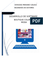 Desarrollo de software para boutique
