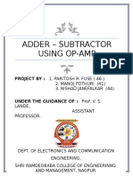 ADDER SUBTRACTOR USING OPAMP 741
