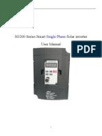SG200 Series Single Phase Solar Inverter User Manual