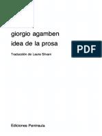 Agamben Giorgio - Idea De La Prosa.pdf