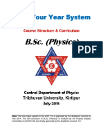 Bsc four year system- full syllabus