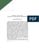 Difusion y Evolucion Estado de La Cuestion en La Antropologia