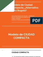 Modelo de ciudad compacta para BOGOTA