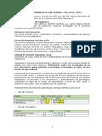 Acta de Jornada de Reflexión Ece-2012-2015 18 Marzo 2016