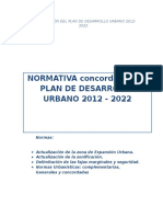 NORMA Plan de Desarrollo Urbano Huaraz 2012 -2022 Ultimo