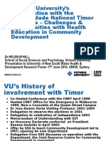 Helen Hill's 2010 presentation to UNSW on Health in the Community Development course at UNTL