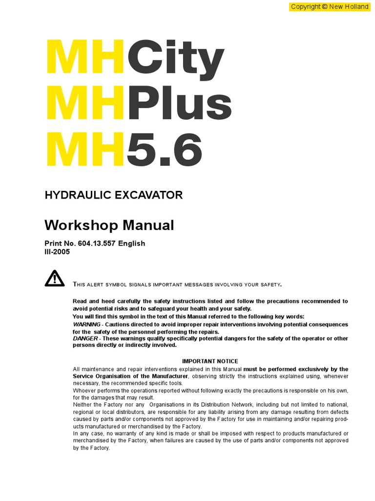 New-Holland-MH 5.6-EN city plus.pdf | Seat Belt | Safety