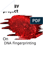Biology  project on dna fingerprinting