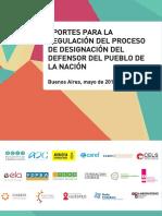 Aportes para la regulación del  proceso de designación del Defensor del Pueblo de la Nación
