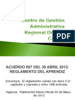 Nuevo Reglamento del Aprendiz VERSION FINAL 2012.pptx