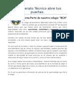 Bachillerato Técnico Abre Tus Puertas Forma Parte de Nuestro Colegio 2566566