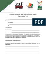 Registration Form - Guerrilla Filmathon (80th Araw Ng Dabaw Edition)