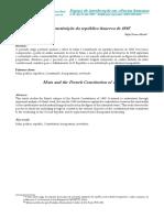 Marx e a Constituição Da República Francesa de 1848