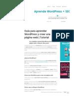 Aprende Wordpress