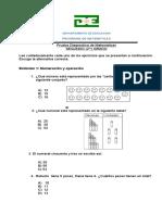 160971053 Prueba Diagnostica de Matematicas de Segundo Grado