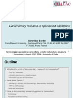 Documentary Research in Specialised Translation Studies