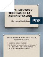 2 Instrumentos y Técnicas de La Administración