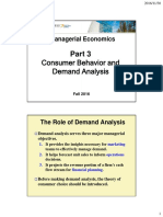 Consumer Behavior and Demand Analysis