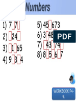 Unit 1 Workbook P4-9. Numbers