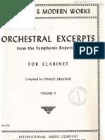 Solos Orquesta Clarinete Book 5 IMC