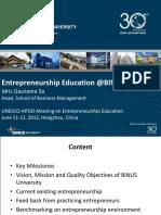 Entrepreneurship 11 June 2012