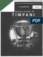 Estudios sinfónico para Timpani
